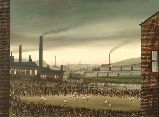 Brian Shields  (Braaq) (British, 1951-1997) 'The Football Match'