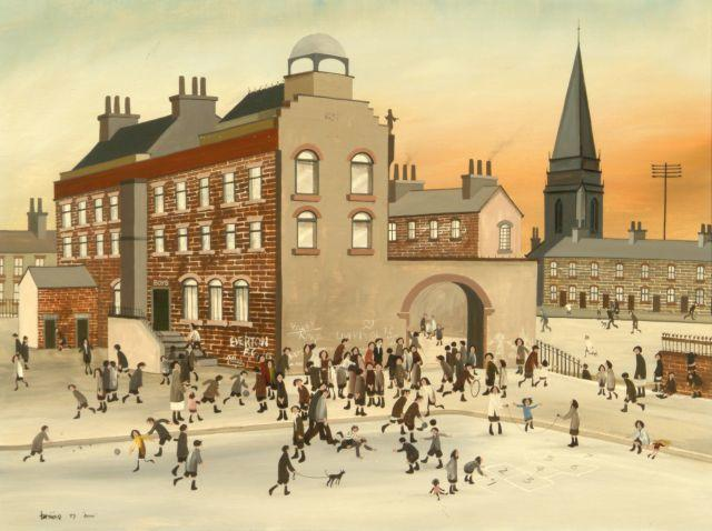 Brian Shields  (Braaq) (British, 1951-1997) 'Our School'