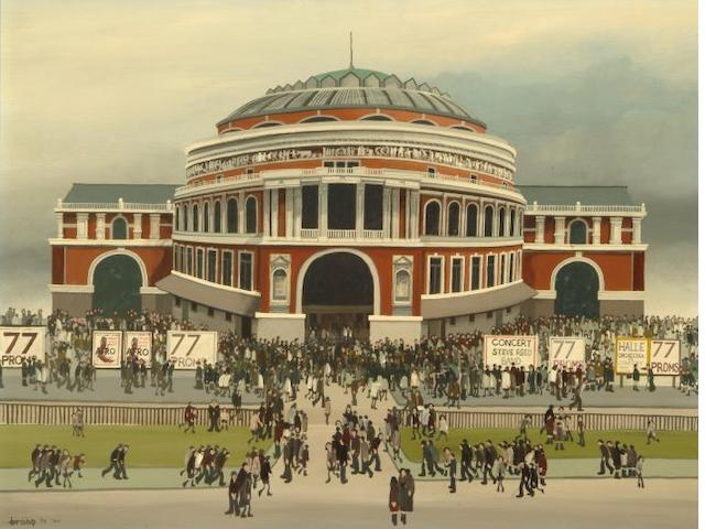 Brian Shields  (Braaq) (British, 1951-1997) 'Royal Albert Hall'