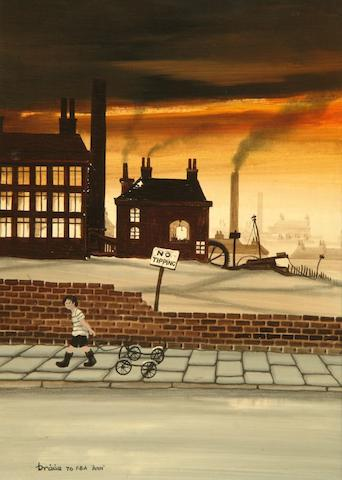 Brian Shields  (Braaq) (British, 1951-1997) 'No Tipping'
