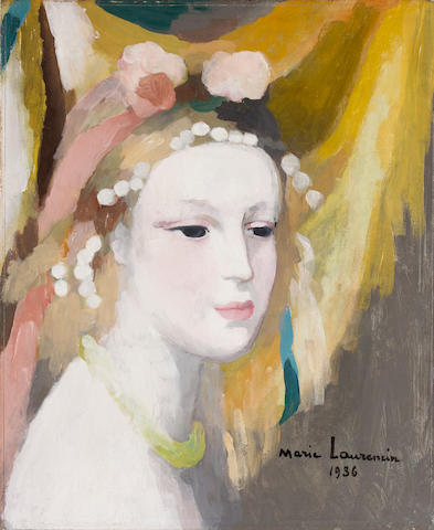 Marie Laurencin (French, 1885-1956) Femme au collier, 1936 unframed
