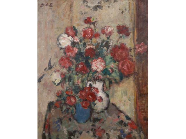 Georges d' Espagnat (French, 1870-1950) Nature morte avec fleurs