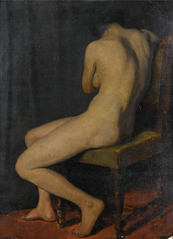 Jan Sluijters (Dutch, 1881-1957) Seated female nude