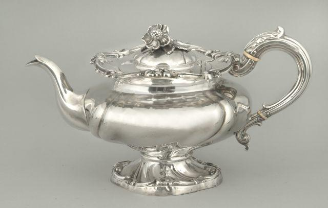 A William IV teapot J. Watson and Son, Sheffield 1838