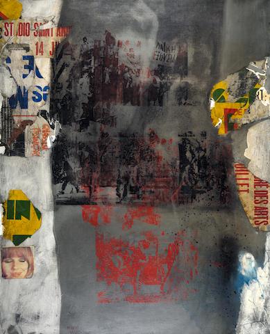 Nikos Kessanlis (Greek, 1930-2004) Polytechnion / Wall 162 x 130 cm.