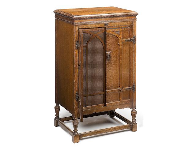 A fine HMV Model 202 cabinet-grand gramophone,