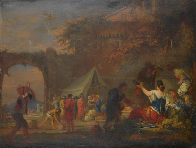 Willem Reuter (Brussels 1642-1681 Rome) Figures harvesting grapes