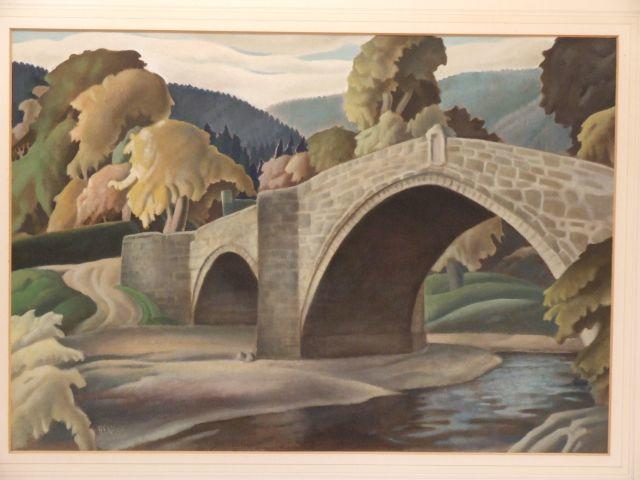Harry Epworth Allen (British, 1894-1958) 'Llanrwst Bridge'