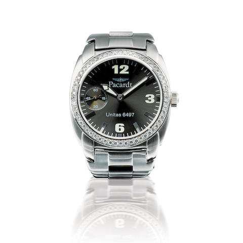 Pacardt. A fine stainless steel manual wind wristwatch with sub secondRef: 5959, Serial 986, Circa 2006