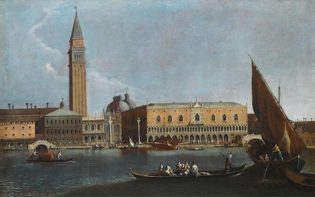 Attributed to Bernardo Canal (Venice 1674-1744) The Bacino di San Marco, Venice,