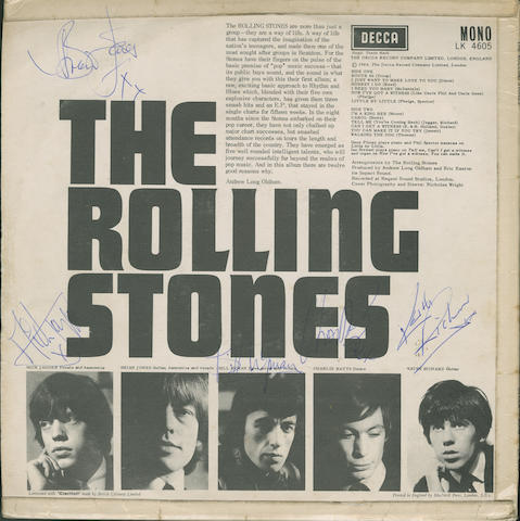 An autographed copy of the album 'The Rolling Stones',  1964,