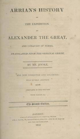 ROOKE (John) (Translator) Arrian's History of the Expedition of Alexander the Great, Second Edition,