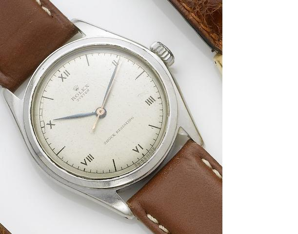 Rolex. A stainless steel centre seconds wristwatch   1940's