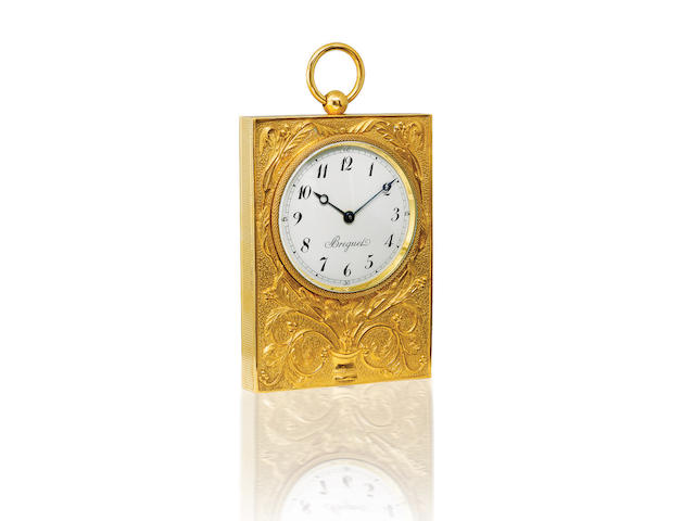 Breguet. A very rare brass and gold manual wind Art Noveau-style wall clock Case no. B1184, Circa 1920s