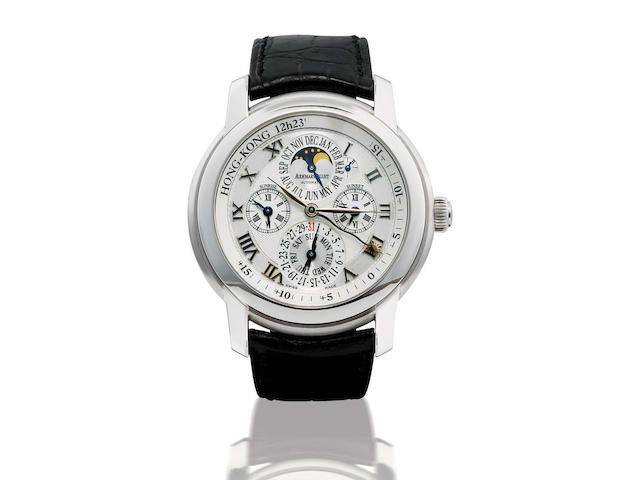 Audemars Piguet. A very fine and rare 18ct white gold automatic equation of time perpetual wristwatch Jules Audemars Equation of Time, Ref: 26003BC, Case no. 64948, Circa 2007