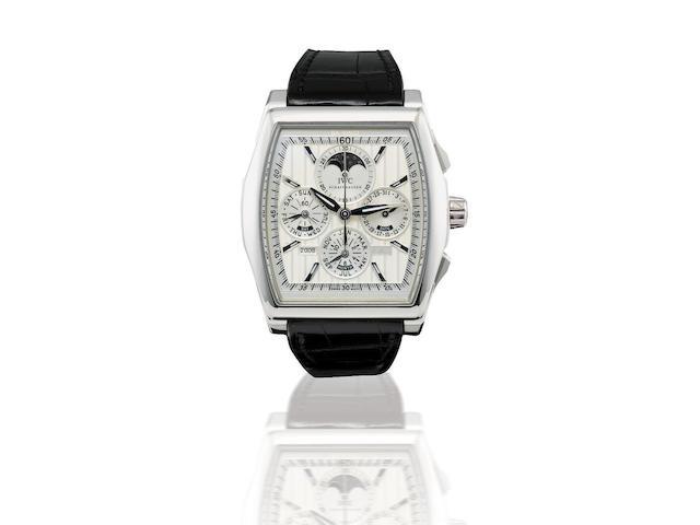 IWC. A fine and rare platinum PT950 automatic chronograph perpetual calendar limited edition wristwatch Da Vinci Perpetual Chronograph Edition Kurt Klaus, Ref: IW376201, Case no. 06/50, Circa 2008