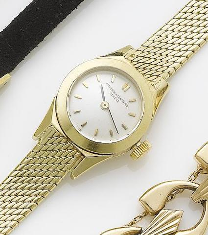 Vacheron & Constantin. A lady's 18ct gold bracelet watch  1950's