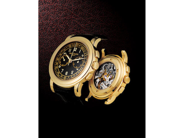 Patek Philippe. A very fine and rare 18ct gold manual wind chronograph wristwatch Ref: 5070YG, Circa 2006