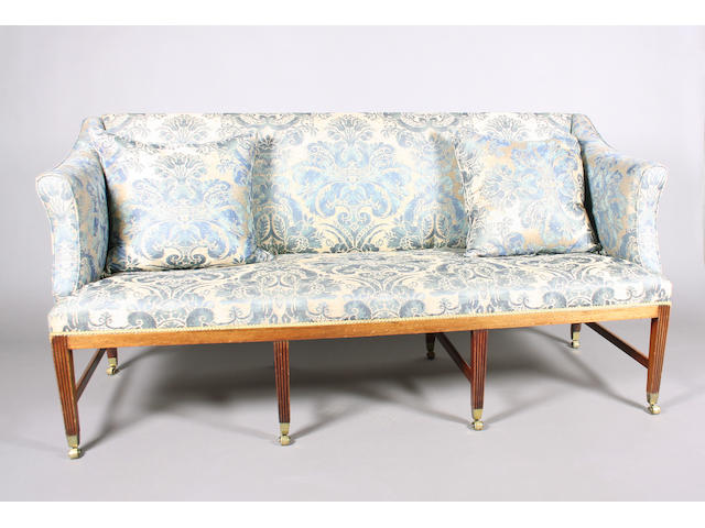 A 19th Century, George III style, upholstered settee