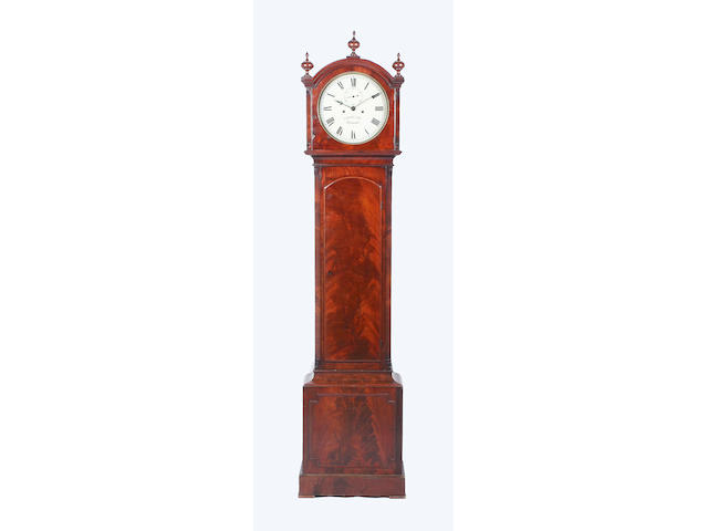 An early 19th century mahogany longcase clock,
