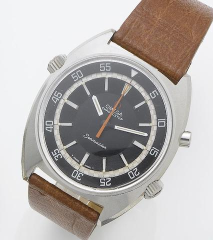 Omega. A stainless steel chronograph divers wristwatch  Seamaster Chronostop, 1960's