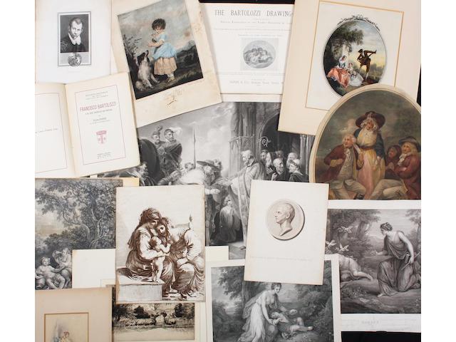 A quantity of Bartolozzi prints
