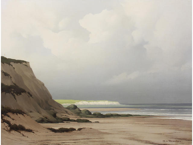 Pierre de Clausade (French, 1910-1976) 'The Distant Headland' 50.5 x 65cm.