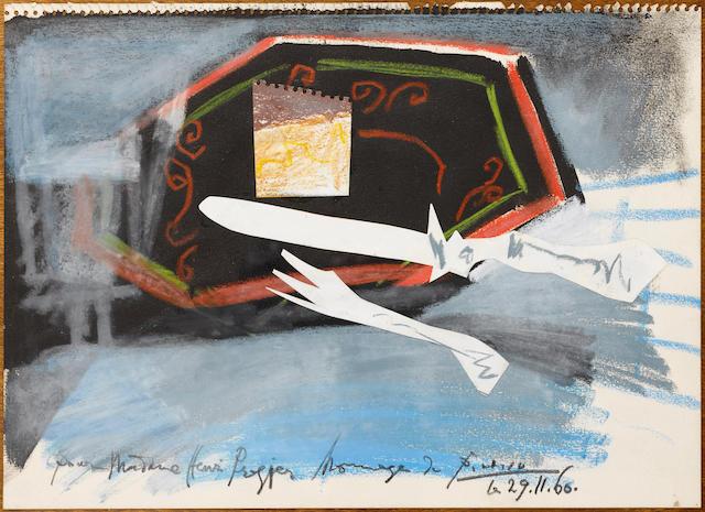 Pablo Picasso (Spanish, 1881-1973) L'assiette a Gateau