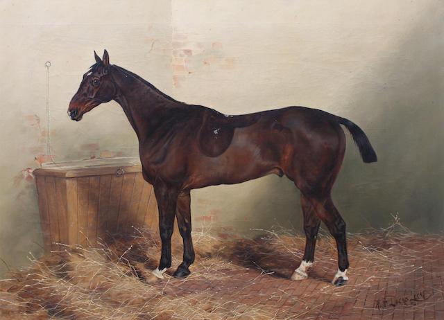 Henry Frederick Lucas Lucas (British, 1848-1943) 'Locksley', 51 x 66cm.