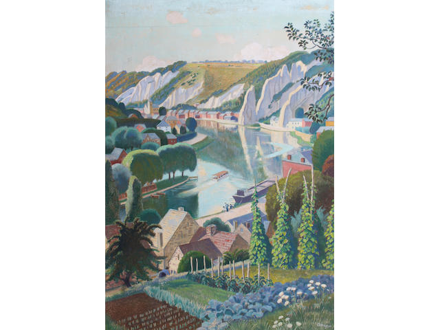 Adrian Paul Allinson (British, 1890-1959) 88.5 x 60cm.