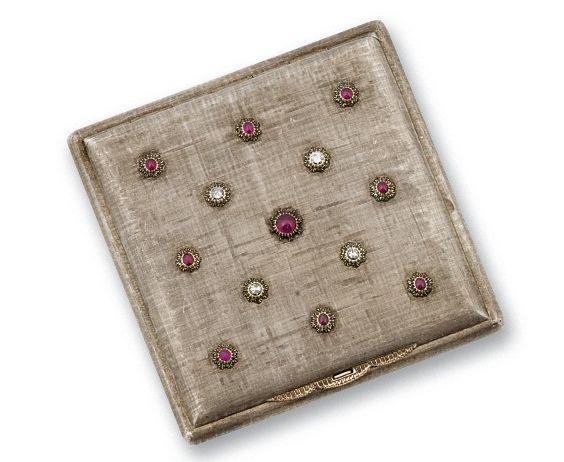 A ruby and diamond compact, by Mario Buccellati