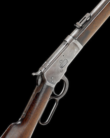 A .38 (W.C.F) 'Model 1892' underlever saddle-ring carbine by Winchester, no. 257929