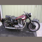 1952 BSA 499cc B33  Frame no. ZB31S 21257 Engine no. ZB33 12869