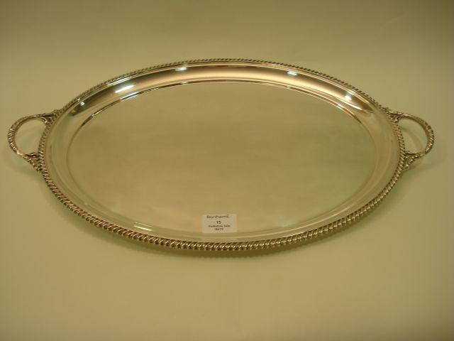 An Elizabeth II two-handled tea tray by Charles Bradbury and Sons, Sheffield 1965