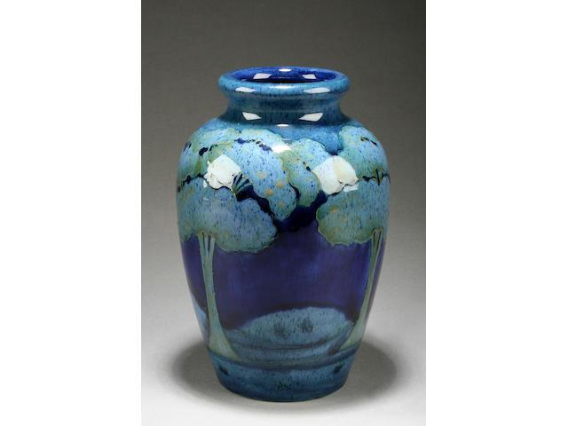 A Moorcroft 'Moonlit Blue' vase Circa 1925