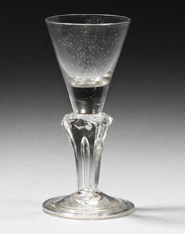 A rare commemorative wine glass Circa 1715.