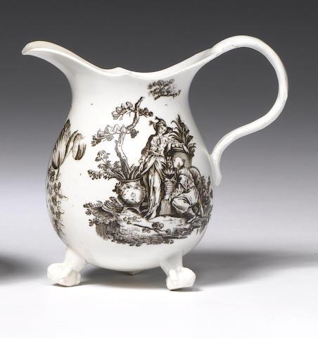 A rare Champion's Bristol cream jug Circa 1772-75.