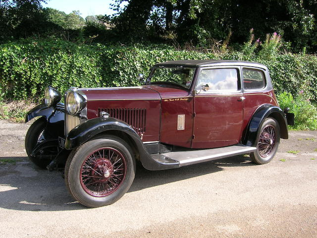 Property of a deceased's estate,1932 Sunbeam 20hp Speed Model Sports Saloon Prototype  Chassis no. 103M Engine no. 2002M