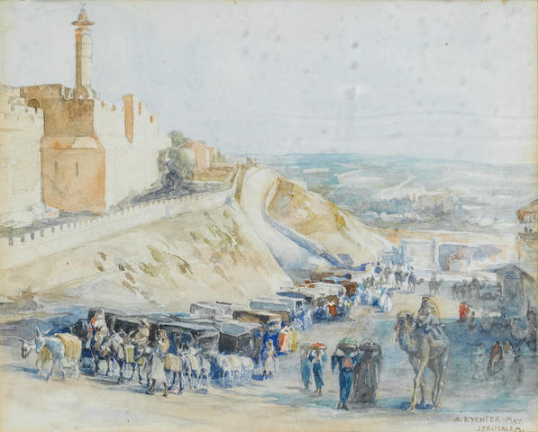Anna Rychter-May (British, active early 20th century) Jerusalem