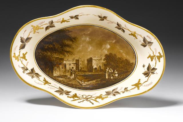 A rare Cambrian creamware centrepiece Circa 1805.