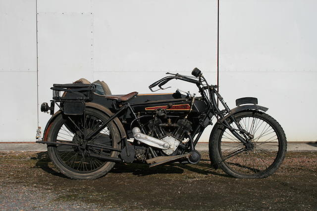 1922 Blackburne 8hp Motorcycle Combination  Frame no. A606 Engine no. T579