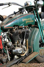 1929 Harley-Davidson 74ci Model J  Engine no. 29JD7864