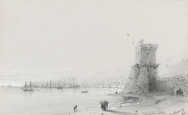 Ivan Konstantinovich Aivazovsky (Russian, 1817-1900) View of Feodosiya