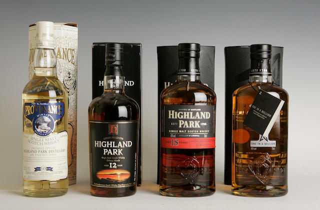Highland Park One In A Million  Highland Park-18 year old  Highland Park-12 year old  Highland Park-10 year old -1995
