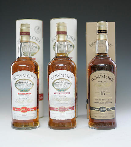 Bowmore-1984  Bowmore-16 year old -1990  Bowmore Cask Strength