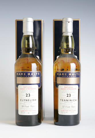 Clynelish-23 year old-1974Teaninich-23 year old-1973