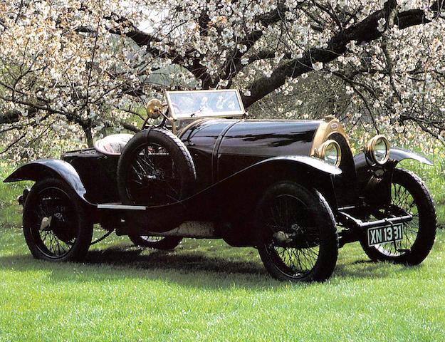 'Black Bess' - The ex-Roland Garros/Louis Coatalen/Colonel Giles/Peter Hampton. 1913 5-litre Bugatti Type 18 Sports Two-Seater.,1913 Bugatti Type 18  Chassis no. 474