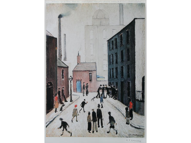 "Laurence Stephen Lowry R.A. (British, 1887-1976) ""Industrial Scene"","