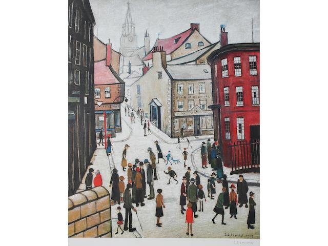 "Laurence Stephen Lowry R.A. (British, 1887-1976) ""Berwick-upon-Tweed"""