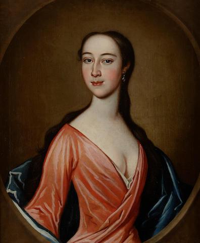 Richard Waitt (British, ?-1732) A woman in a red gown